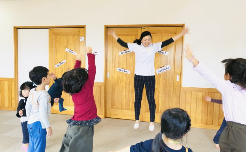 子育て英語リトミックの教室には月1回の子どもクラスもあるよ!
